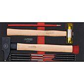 Module d'outils de frappe manche bois, 9 pièces image