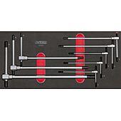 Module de clés mâles 6 pans à poignée en T, 8 pièces image