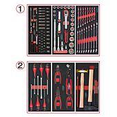 Composition d'outils 2 tiroirs pour servante, 114 pièces image