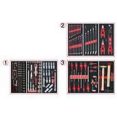 Composition d'outils 3 tiroirs pour servante, 158 pièces image
