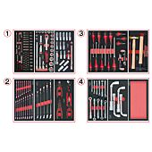 Composition d'outils 4 tiroirs pour servante, 173 pièces image