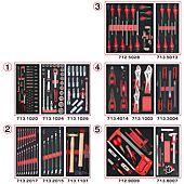 Composition d'outils 5 tiroirs pour servante, 187 pièces image