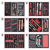 Composition d'outils 6 tiroirs pour servante, 202 pièces image