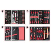 Composition d'outils 4 tiroirs pour servante, 241 pièces image