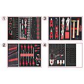 Composition d'outils 4 tiroirs pour servante, 263 pièces image