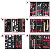 Composition d'outils 5 tiroirs pour servante, 311 pièces image