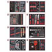 Composition d'outils PL 8 tiroirs pour servante, 354 pièces image