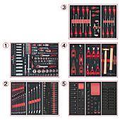 Composition d'outils 5 tiroirs pour servante, 384 pièces image