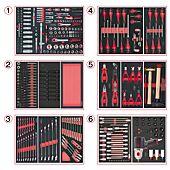 Composition d'outils 6 tiroirs pour servante, 428 pièces image