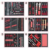 Composition d'outils 6 tiroirs pour servante, 455 pièces image
