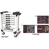 Servantes ULTIMATE 7 tiroirs équipées de 158 outils image