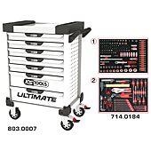 Servantes ULTIMATE 7 tiroirs équipées de 184 outils image