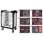 Servantes ULTIMATE 7 tiroirs équipées de 202 outils image
