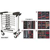 Servantes ULTIMATE 7 tiroirs équipées de 311 outils image