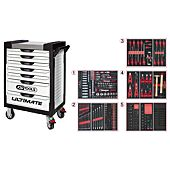 Servantes ULTIMATE 7 tiroirs équipées de 384 outils image