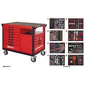 Servante 14 tiroirs équipée de 354 outils image