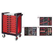 Servantes ULTIMATE 9 tiroirs équipées de 158 outils image
