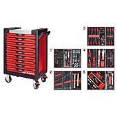 Servantes ULTIMATE 9 tiroirs équipées de 187 outils image