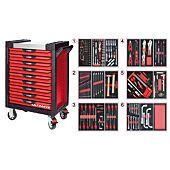 Servantes ULTIMATE 9 tiroirs équipées de 202 outils image