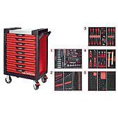 Servantes ULTIMAT 9 tiroirs équipées de 384 outils image