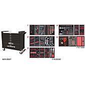 Servante ULTIMATE XL noire 7 tiroirs équipée de 354 outils image