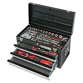 Coffre à outils ULTIMATE équipé - 3 tiroirs et plateau - 114 pcs image