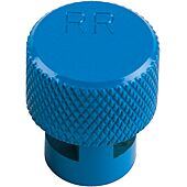 Capuchon bleu de dégonflage de roue avec valve TPMS image