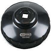 """Cloche pour filtre à huile 3/8"""", diamètre 86 mm / 18 cannelures image"""