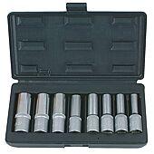 Coffret de 8 douilles TORX®, L.75 mm -  1/2'' - E10 à E24 image