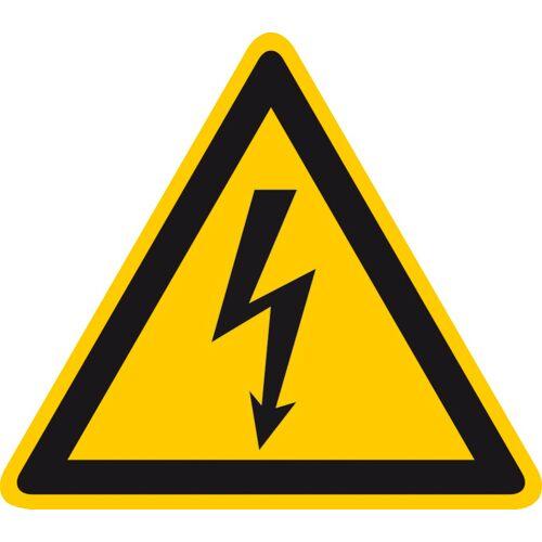Panneau de signalisation travaux sur véhicules hybrides et électriques : Tensions électriques image