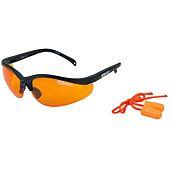 Lunettes de protection - orange avec bouchons d'oreille image