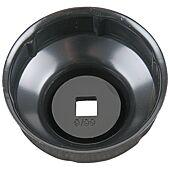"""Cloche pour filtre à huile 3/8"""", diamètre 66 mm / 6 cannelures image"""