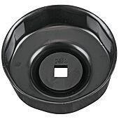 """Cloche pour filtre à huile 3/8"""", diamètre 76 mm / 8 cannelures image"""