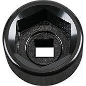 """Cloche pour filtre à huile 3/8"""", diamètre 27 mm / 6 cannelures image"""