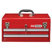 Coffre à outils vide avec 2 tiroirs et plateau image
