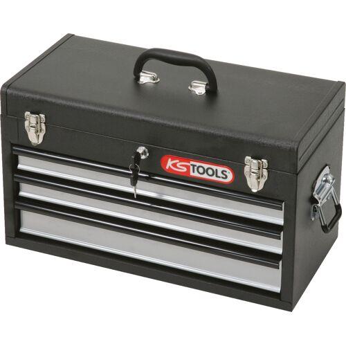 Coffre à outils vide avec 3 tiroirs et plateau image
