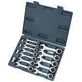 Coffret de clés mixtes courtes réversible à cliquet GEARplus®, 16 pcs image