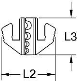 Mâchoire pour cosses à fûts ouverts, Ø0,5 - 6 mm image