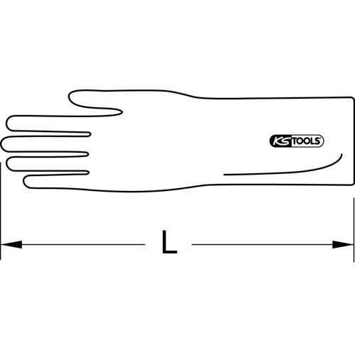 Gants d'électricien blancs image