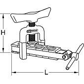 Appareil à collets en pouces  45°, L.160 mm image