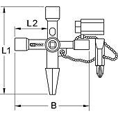 Clé universelle pour armoire éléctrique chaîne courte image