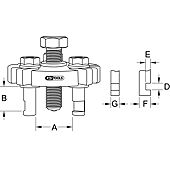 Extracteur universel à trois griffes pour poulies de courroie image