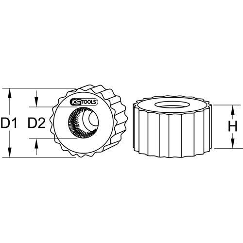 Brosses extérieures pour tube cuivre image