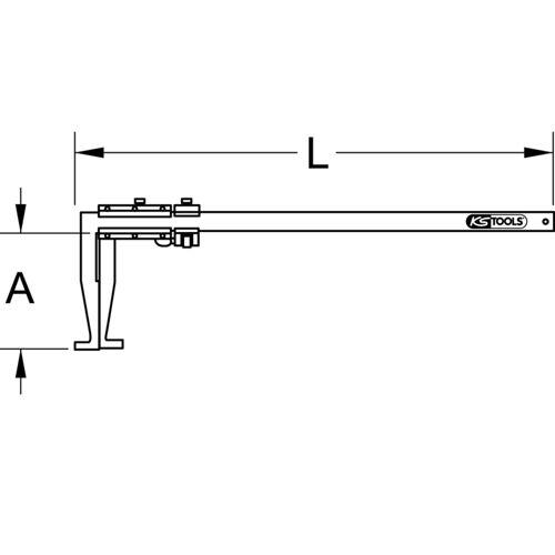 Calibre à coulisse en inox pour tambours de frein PL, 0-500 mm image
