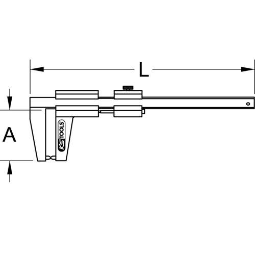 Calibre à coulisse en inox pour disques de frein VL, 0-60 mm image