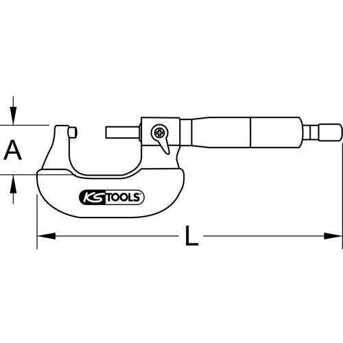 Micromètre, 0-25 mm image