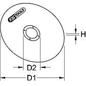 Disques à tronçonner Ø100 mm par 25 pcs image