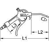 Soufflette avec buse 100 mm régulateur de débit d'air 1/4'' - 6,35 mm image