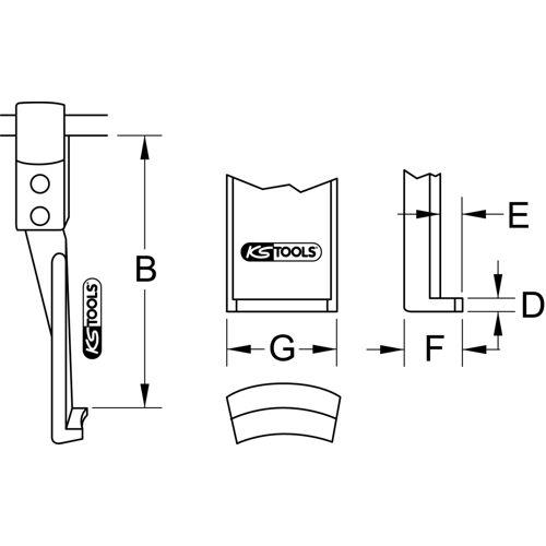 Griffes fines à blocage rapide pour extracteur image