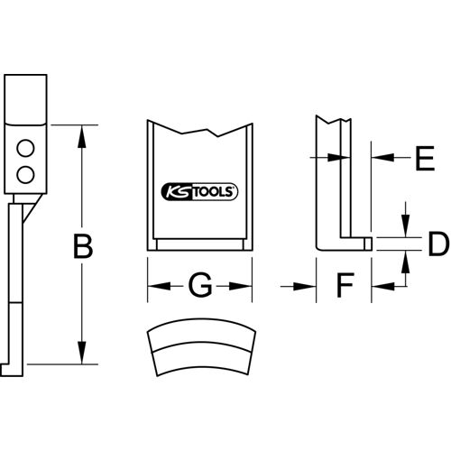 Griffes en acier pour extracteur image